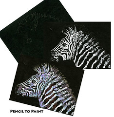 Tutorial - How to Draw a Zebra on Black Paper (Life Imitates Doodles) Tags: zebra animal blackpaper arttutorial