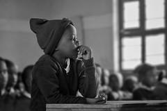 Don't Answer Me.. (u c c r o w) Tags: arusha child children school class blackandwhite africa african portrait tanzania maasai people world