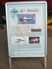 Info board for the BAC Jet Provost T.4 XP642 nose and cockpit, Cornwall Aviation Heritage Centre 22.08.18 (Trevor Bruford) Tags: cornwall aviation heritage centre newquay team display vipers foundation preservation cockpit nose xp642 t4 provost jet bac cahc airplane plane aeroplane aircraft mawgan st raf info board
