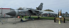Panavia Tornado GR.4 ZA398 parked outside the hangar at the Cornwall Aviation Heritage Centre on 22.08.18 (Trevor Bruford) Tags: cornwall aviation heritage centre newquay cahc raf st mawgan aircraft aeroplane plane airplane warplane panavia tornado gr4 za398 ii ac sqn second to none