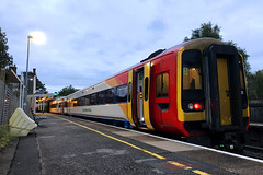 158881, Romsey, August 27th 2018 (Southsea_Matt) Tags: 158881 158742 class158 brel sprinter first mtr swr southwesternrailway romsey hampshire england unitedkingdom iphone7 august 2018 summer dmu dieselmultipleunit passengertravel publictransport vehicle train railway railroad