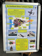 Info board for a De Havilland Ghost Turbojet Engine on display at the Cornwall Aviation Heritage Centre, Newquay 22.08.18 (Trevor Bruford) Tags: cornwall aviation heritage centre newquay de havilland ghost turbojet engine cahc raf st mawgan aircraft aeroplane plane airplane info board