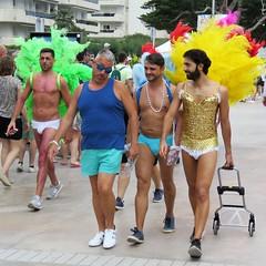 pride sitges 2019 (gerben more) Tags: gaypride gay people costume parade shirtless feathers spain sitges
