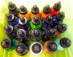 Acrylic Inks (Durley Beachbum) Tags: 119picturesin201956 inks acrylic glass bottles