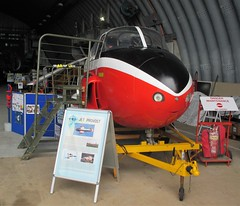 BAC Jet Provost T.4 XP642 nose and cockpit inside the Cornwall Aviation Heritage Centre, Newquay on 22.08.18 (Trevor Bruford) Tags: cornwall aviation heritage centre newquay raf st mawgan aircraft aeroplane plane airplane cahc bac jet provost t4 xp642 nose cockpit preservation foundation vipers display team
