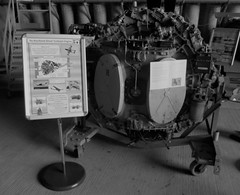 A De Havilland Ghost Turbojet Engine on display at the Cornwall Aviation Heritage Centre, Newquay on 22.08.18 (Trevor Bruford) Tags: cornwall aviation heritage centre newquay de havilland ghost turbojet engine cahc raf st mawgan aircraft aeroplane plane airplane