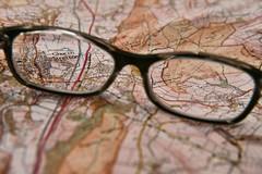 169/365 Planning a walk (KatyMag) Tags: map churchstretton shropshire closeup glasses spectacles walking walkingmap ordnancesurvey odc