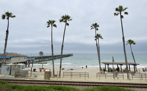 San Clemente Beach from the parking lot