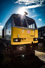 Class 60 (deltic17) Tags: dbs mrc mrb midlandrailway class60 60066 loco locomotive diesel train sun canon5dmk4
