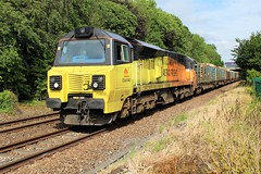Colas Rail 70802 6J37 at Bamber Bridge (Powerhaul70Pey) Tags: colasrail 70802 70 6j37 carlisle chirk logs freight train locomotive railway rail railroad bamberbridge