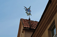 Flying over the roofs (Tery14) Tags: roof sky weathervane angel