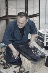 剣道具の匠 (小川 Ogawasan) Tags: japan japon kendo kyoto craftman japanese human artisan