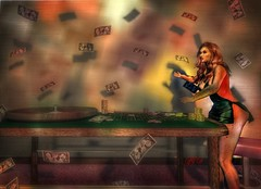 You've got to know when to hold 'em (Lofty Lemur(Taking clients)) Tags: money secondlife redhead freckles gambling roulette