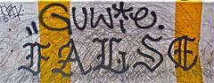 Graffiti . Lower Manhattan. GUWIE. FALSE. (Allan Ludwig) Tags: graffiti lowermanhattan guwie false