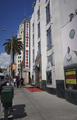 day 17. Hollywood blvd and museum 64 (Dave S Campbell) Tags: hollywood california car blvd boulevard ruby slippers wizard oz v movie burt reynolds theatre chinese sign lambrghini props masks delorean batman