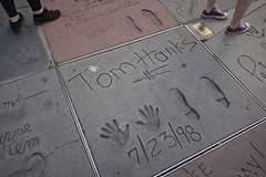 day 17. Hollywood blvd and museum 82 (Dave S Campbell) Tags: california car hollywood blvd sign movie boulevard theatre oz wizard chinese v masks batman ruby delorean burt slippers props reynolds lambrghini