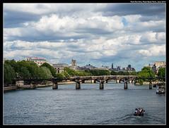 Pont des Arts and Pont Neuf (jason_hindle) Tags: seine france olympus1240f28 paris pontdesarts pontneuf olympusomdem1mkii europe montmartre