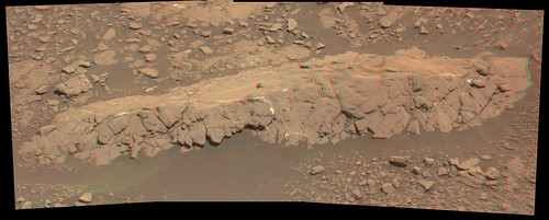 Curiosity sol 2434  mastcam R L anaglyph demosaicing