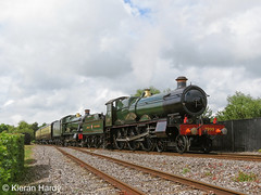 Doubleheader at Didcot. (Kieran H) Tags: didcot gwr modifiedhall hall 7903 foremarkehall 2999 ladyoflegend saint