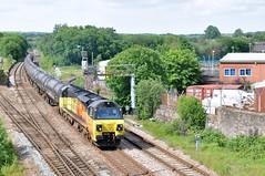 70806 Ainsworth Bridge 18-6-19. (Blackburns Railway Scene) Tags: 70806 class70s colas 6e32 ainsworthbridge