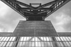 Headflection (frank_w_aus_l) Tags: zollverein bw monochrome nikon df worldheritage zeche sky clouds reflection nikkor ais essen nordrheinwestfalen deutschland niftyfifty