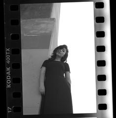 maddie anne kelly // raw cut (MarvinHrrr) Tags: blackwhite bw trix 400 film analog portrait vintage vibes blackdress scan kodak moody shade yashica 230af 35mm canada vancouver