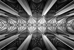 _DSC4756 - Gothic Symmetry (AlexDROP) Tags: 2019 europe germany deutschland munich munchen art travel architecture cathedral church bw interior wideangle nikond750 tamronaf1735mmf284diosda037 best iconic famous mustsee picturesque postcard geometry symmetry gothic