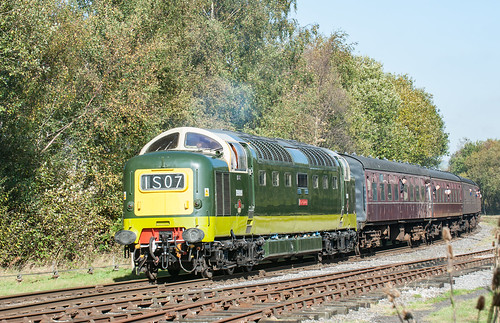D9009 Alycidon with a Rake of Maroon Carriages