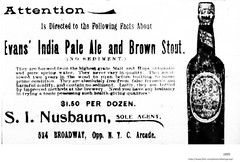 1895 nusbaum  liquor and beer  524  Broadway (albany group archive) Tags: 1890s evans ale stout old albany ny vintage photos picture photo photograph history historic historical