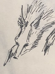 running wolf (miketrujillo) Tags: drawing art sketch ballpoint black white animals creature photo illustration wolf