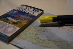 Planning for Summer Holiday (Rudi Pauwels) Tags: 2019 2019onephotoeachday markers map guide kreta crete traveling planning holidays summer