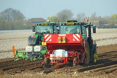 John Deere Tractors Planting Potatoes (SR Photos Torksey) Tags: transport tractor agriculture farm farming machinery john deere planting potatoes grimme