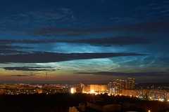 Silver clouds over Kazan (dbl_foto) Tags: russia tatarstan kazan silver clouds atmosphere night city sony nex6 nikkor 24mm