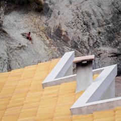 Danger (burnsmeisterj) Tags: olympus omd majorca rocks roof em10