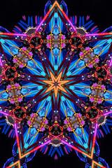 kaleidoscopic inversion (pbo31) Tags: 2019 alamedacounty black fair midway pleasanton california ride butleramusements summer june boury pbo31 night dark color nikon d810 spin lightstream motion blur eastbay bayarea swing kaleidoscopic kaleidoscope blue