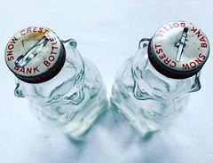 1950s Honey Bear Coin Banks (Christian Montone) Tags: banks honeybear bears glass bottles 1950s