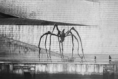 beware! (theoswald) Tags: sculpture shadows spider d3300 people blackandwhite guggenheim mum louisebourgeois nikon