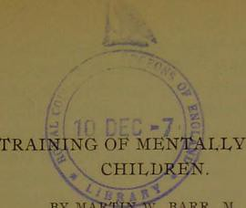 This image is taken from The training of mentally deficient children