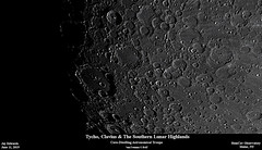 TychoClavisSouthernHighlands_20190611_HomCavObservatory (homcavobservatory) Tags: homcav observatory crater tycho clavius lunar 8inch f7 criterion newtonian reflector zwo asi290mc losmandy g11 mount gemini 2 control system moon astronomy astrophotography
