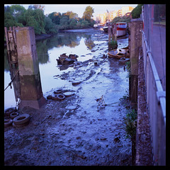 River View (Jamie Langford) Tags: rolleiflex t35 mediumformat 120film velvia50 brentford london thames