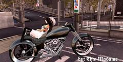 Dusk till Dawn ❤ (_chic.) Tags: tokyo bike sl secondlife me chic