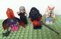 Miscellaneous Miscreants (Gallisuchus (Clayface)) Tags: custom lego dc comics supervillain minifigures extremists dreamslayer felix faust scavenger sportsmaster
