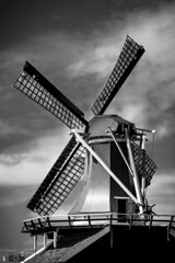 The Enemies Of Don Quijote... (happad fotografie) Tags: nederland blackandwhite holland mill netherlands windmill monochrome dutch nikon scenery zwartwit nikkor 70200 d610 sky clouds composition dramatic popping