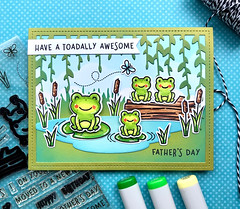 Have a Toadally Awesome Father's Day (The Queen's Scene) Tags: card cardmaking lawnfawn toadallyawesome frogs fathersday