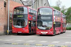 10823 20190605 Warrington LX53 AZW & LK04 HXV (CWG43) Tags: bus uk warringtonboroughtransport warrington volvo b7tl wright lx53azw lk04hxv londoncentral londongeneral goaheadlondon wvl127 towertransit vnw32409 centrewest firstlondon