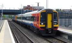 158847 & 156411 - Ilkeston, Derbyshire (The Walsall Spotter) Tags: ilkeston railway station derbyshire class158 express sprinter dmu 158847 156411 class156 uk multipleunit networkrail britishrailways