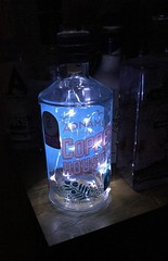 Gin bottle (sally.mcclarnon) Tags: lamp adnams copperhouse twinkle lights bottle gin