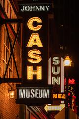 Johnny Cash Museum (sniggie) Tags: nightphotography sign lights nashville tennessee signage neonsign musiccity downtownnashville nashvillestreets johnnycashmuseumcafe