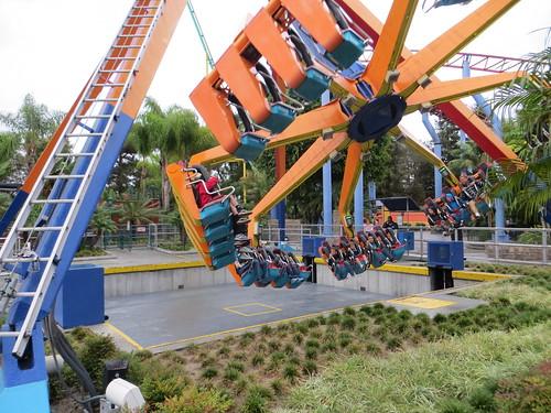 Swinging Ride in the Amusement Park