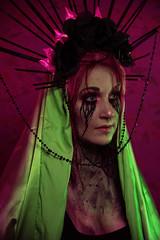 Pepon (Wurmwood Photography) Tags: nikon godox fovitec light lighting pink green paint makeup artistic creative art fineart fashion beauty women woman face portrait eyes mehron